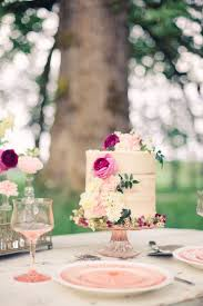 Gorgeous Floral Naked Cake From A Whimsical Rustic Wedding Via Karas Party Ideas KarasPartyIdeas