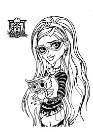 Monster High Printable Coloring Pages