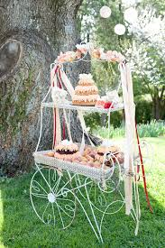 Vintage Flower Cart With Desserts