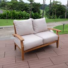 100 Palm Beach Outdoor Lounge Chair Contemporary Patio Chicago Birch Lane Heritage Summerton Teak Loveseat With Cushions Reviews