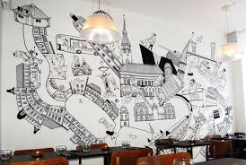 Street Art Black And White Wall Decal Mural For Your Living Room Bedroom Dining