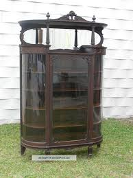 Curved Glass Curio Cabinet Antique by Antique China Cabinets 1900s Roselawnlutheran