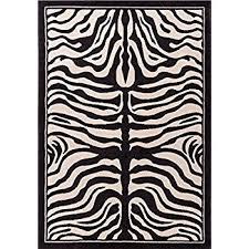 Amazon Zebra Print Rug Contemporary Area Rugs 5x8 Zebra Rugs