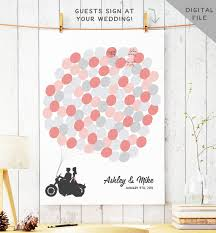 Items Similar To Biker Couple Wedding Guest Book Alternative