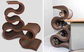 modern cat curvynest modern cat tree from catswall design coming to