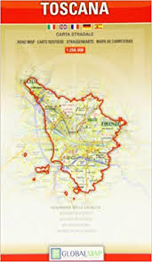 Tuscany Regional Road Map Maps Red Cover 9781858796284 Amazon Books