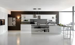 Stylish Inviting And Pleasant Modern Kitchen Design With Bright Illumination
