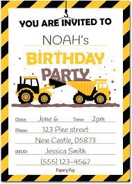30 Construction Dump Trucks Birthday Invitations With Envelopes ... Printable Cstruction Dump Truck Birthday Invitation Etsy Pals Party Cake Ideas Supplies Janet Flickr Shirt Boy Pink The Cat Cakes Cupcakes With Free S36 Youtube 11 Diggers And Trucks Or Photo Tonka Luxury Smash First Invitations Aw07 Advancedmasgebysara