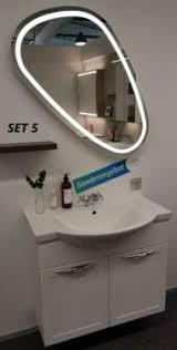 abverkauf dansani waschtisch badmöbel mit spiegel 80cm weiß hgl