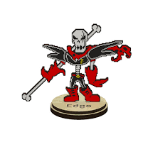 Undertale AU Underfell Edge Papyrus The Skeleton Collectible