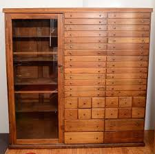 Elaborate Mission Apothecary Cabinet with 44 Drawers at 1stdibs