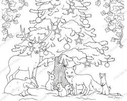 Woodland Animal Coloring Pages Etsy