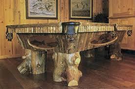 Teton Rustic Montana Log Pool Table