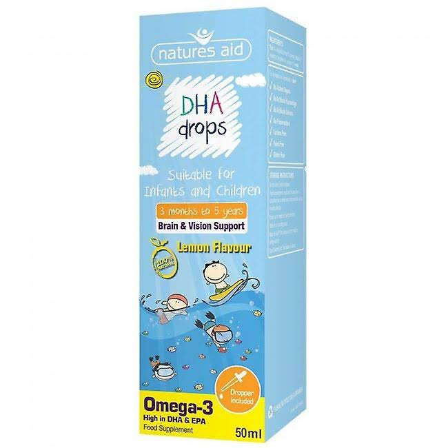 Natures Aid Lemon Flavour DHA Drops - 50ml