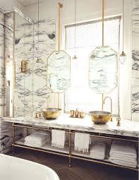 luxus badezimmer marmor waschtisch und lavabos aus gold