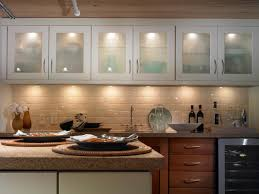 kitchen above cabinet lights block board counter top