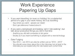 Resume Examples Gap Work History As Well In Employment Cover Letter