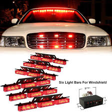 100 Strobe Light For Trucks CYAN SOIL BAY Red 54 LED 6x9LED Emergency Hazard Car Truck Vehicle