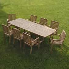9 Piece Teak Patio Set Bayview