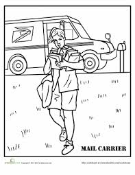 Mail Carrier Coloring Page