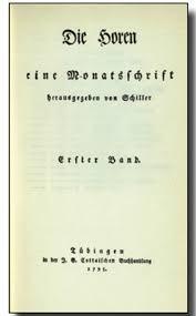 4 Die Horen Eine Monatsschrift Herausgegeben Von Schiller Tubingen 1795 98