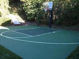 Basketball Court Surfaces | Construction And Painting Amazing Ideas Outdoor Basketball Court Cost Best 1000 Images About Interior Exciting Backyard Courts And Home Sport X Waiting For The Kids To Get Gyms Inexpensive Sketball Court Flooring Backyards Appealing 141 Building A Design Lover 8 Best Back Yard Ideas Images On Pinterest Sports Dimeions And Of House