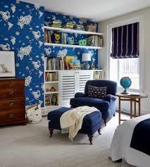 englisch land wallpaper blau zimmer möbel schlafzimmer