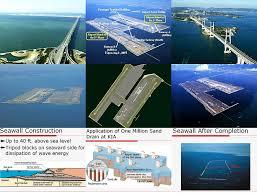 Kansai Airport Japan Sinking by Kansai And Kobe International Airport Osaka Bay Japan 20