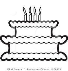 birthday clip art black and white