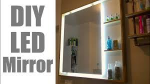 modern led mirror for the bathroom beleuchteter badezimmer spiegel zum nachbauen