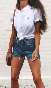 Summer Fashion T Shirt Denim Shorts