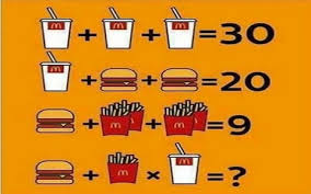 McDonalds Maths Puzzle Facebook Answer