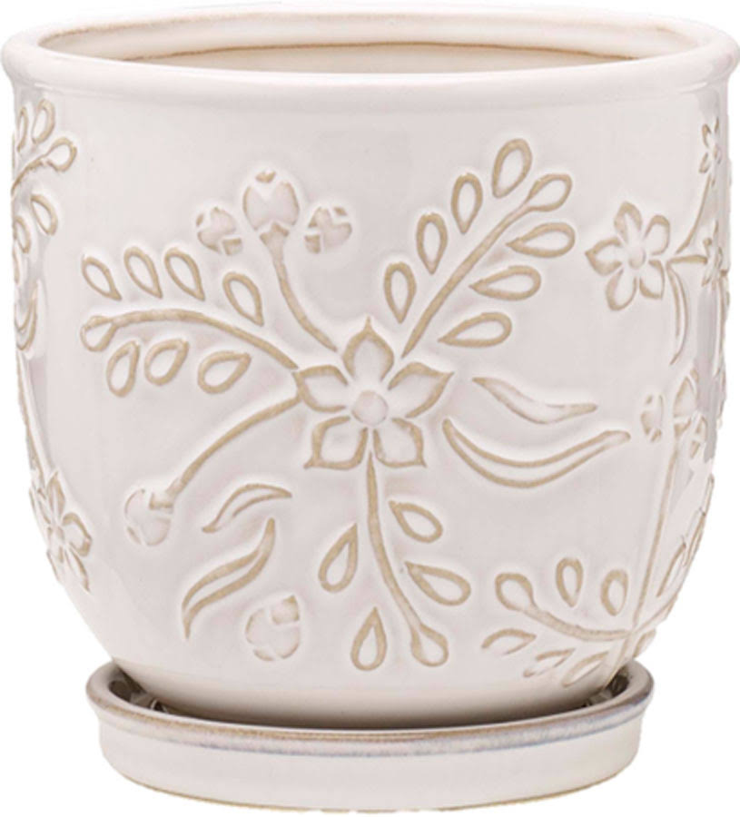 Southern Patio-Clayworks Venice Planter- White 6 inch (Case of 4 )