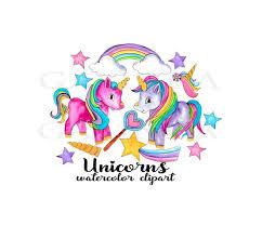 Unicorn Clipart Watercolor Unicorns Clip Art
