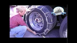 How To Install General Highway Service Semi Truck Tire Chains - YouTube