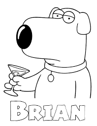 Family Guy Brian Coloring Page