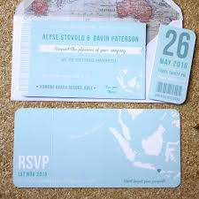 Blue Boarding Pass Wedding Invitation By Rodo Creative
