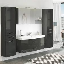 badezimmer komplett set mit 2 hochschränken florido 03 in hochglanz gr