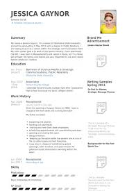 Reception Resume Samples