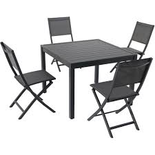Hanover Naples 5-Piece Aluminum Outdoor Dining Set With 4-Sling ... Shop Dali Folding Chairs With Arm Patio Ding Cast Alinum Xhmy Outdoor Chair Portable Armchair Collapsible New Design Used Cheap Director Buy Camping Fishing Vtg Us Navy Anchor Print Foldup Blue Canvas Shinetrip Alloy China Lweight Atepa Ultra Light Chair Ac3004 Standard Boat Armrests Folding Alinum Pa160bt Yuetor Outdoor 7 Pos Morden Mesh Garden Deck
