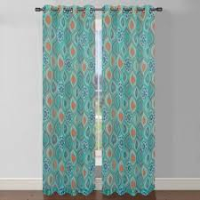Bed Bath And Beyond Sheer Window Curtains by Olina Printed Sheer Window Curtain Panel Bedbathandbeyond Com