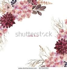 Watercolor Flowers Set Beautiful Floral Clip Art Elegant Collection With Isolated Leaves And