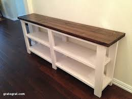 Diy Console Table Plans Unique Rustic Chic