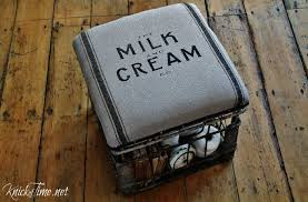 Milk Crate Padded Storage Stool