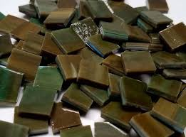 bulk discount olive stained glass mosaic tiles mosaic