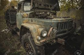 100 Wrecked Truck Old Rusty Car Or Toned Stock Photo Picture And