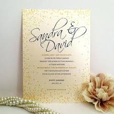 Blue Gold Wedding Invitations Script Invitation Printed On Luxury Cream Paper Golden Dots Royal