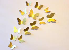 Gold Butterfly Wall Art