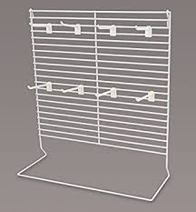 Large White Countertop Peg Display With 4quot Plastic Hooks 18quot