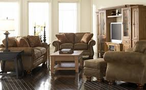 Cozy Broyhill Sofas For Elegant Living Room Furniture Design Beige Leather With Decorative